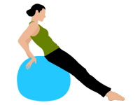 Lower Back Pain Relief - Exercise Ball